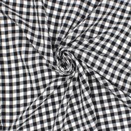 Tissus Vichy noir et blanc