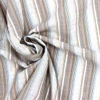 Tissu en coton et elasthane à rayures