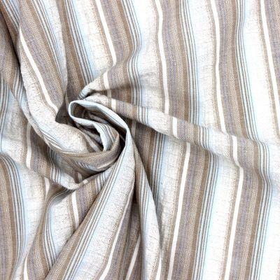 Tissu en coton et elasthoane à rayures