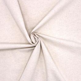 Zandkleurige stof in linnen en katoen