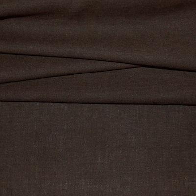 Bruine wol en katoen stof