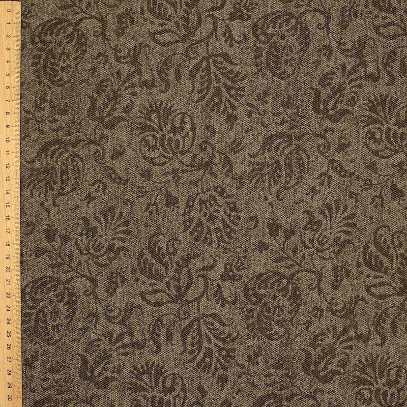 Tissu en coton à lignes grises sur fond blanc