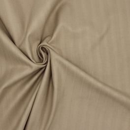 Tissu extensible à rayures chevrons beige