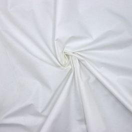 Witte katoen en polyester in brede breedte
