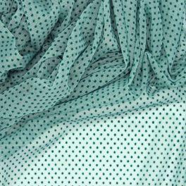 Tulle extensible plumetis vert