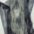 Tissu en voile polyester bleu