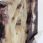 Tissu en voile polyester brun