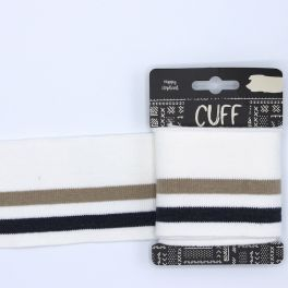 Bord côte ligné blanc, beige et marine