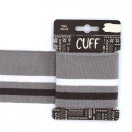 Bord côte ligné gris et blanc