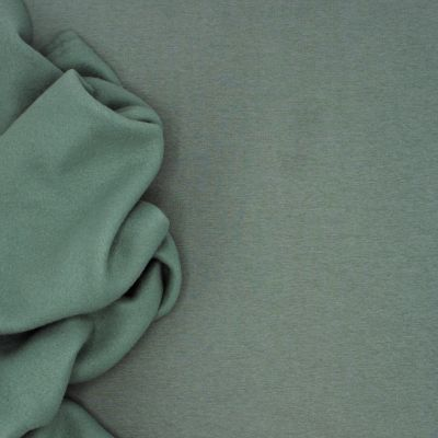 Tissu sweat épais molletonné uni old green