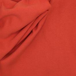 Tissu sweat épais molletonné uni orange