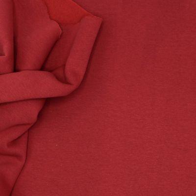 Tissu sweat épais molletonné uni rouge