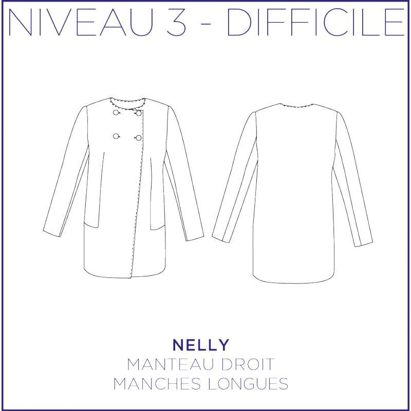 Patron femme manteau Nelly