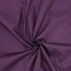 Satin cotton fabric with grey dansers on white background