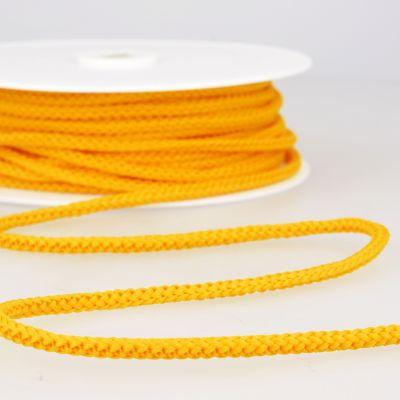 cordon tricoté jaune bouton d'or