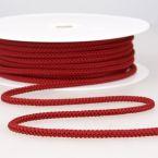 cordon tricoté rouge bordeau