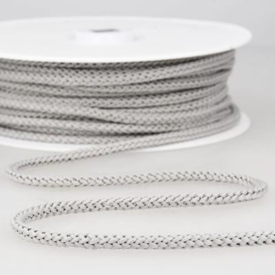cordon tricoté gris perle