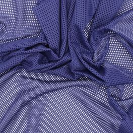 Extensible mesh fabric - blue