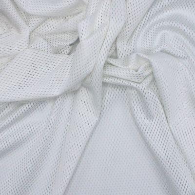 Tissu résille blanc