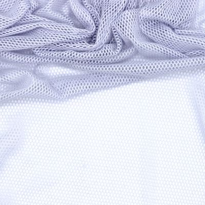 Extensible mesh fabric with cotton aspect - sky blue