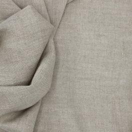 Plain beige linen fabric