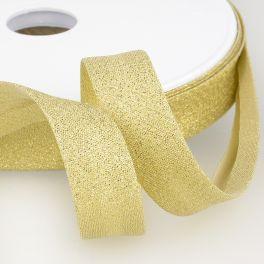 Biaisband met goudkleurige Lurex