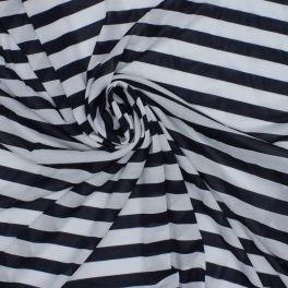 Doublure jersey rayée marine et blanc