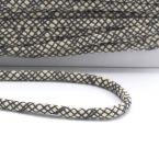 cordon en coton tressé gris