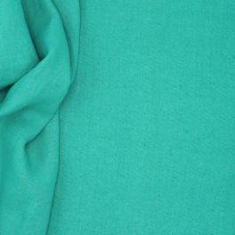 Tissu en 100% lin lavé uni vert d'eau