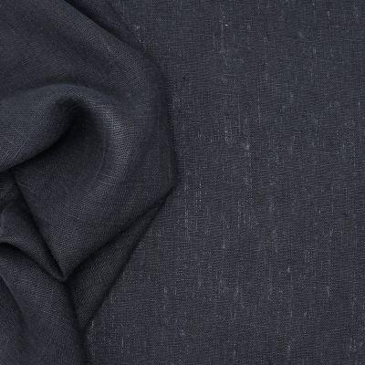 Tissu en 100% lin lavé uni noir 86647dba5eea