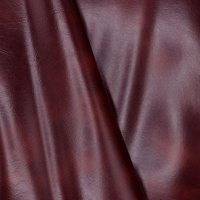 Tissu en simili cuir lourd et souple bordeaux