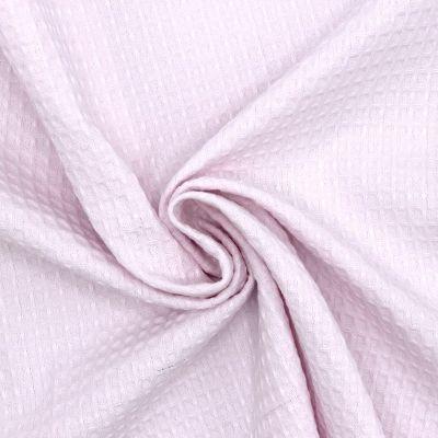 Piqué de coton gaufré nid d'abeille rose layette