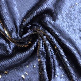 Chiné black polyester fabric