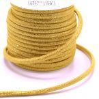 cordon cuir luxe jaune
