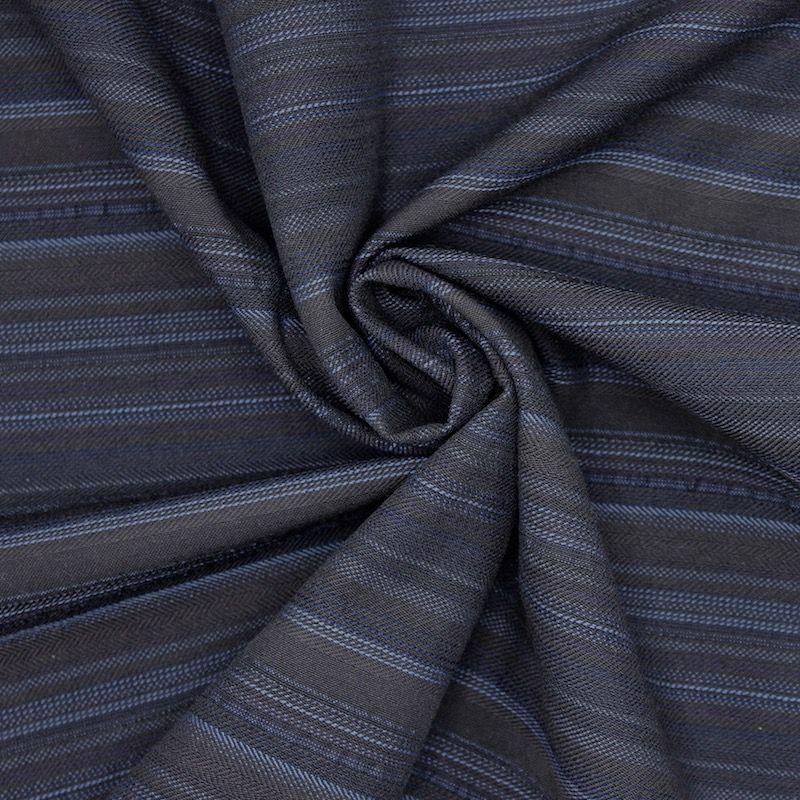 tissu extensible rayures marron et bleu. Black Bedroom Furniture Sets. Home Design Ideas