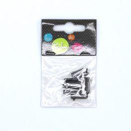 Embouts gris foncé pour lacet (10 pièces)