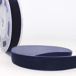 ruban velours bleu marine