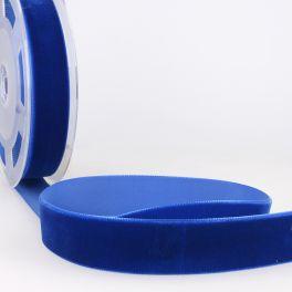 Fluweel lint lurex blauw