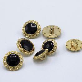 Bouton vintage  noir et aspect métal