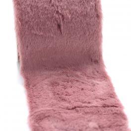 Ruban fourrure acrylique 10cm parme