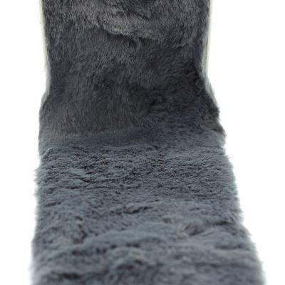 Ruban fourrure acrylique 10cm gris moyen