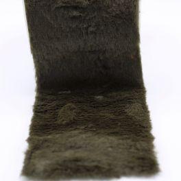 Ruban fourrure acrylique 10cm vert foncé