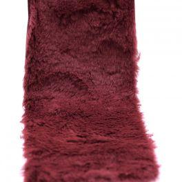Ruban fourrure acrylique 10cm bordeaux