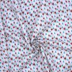 Tissu en coton imprimé père Noël
