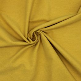 Tissu en coton gratté ocre