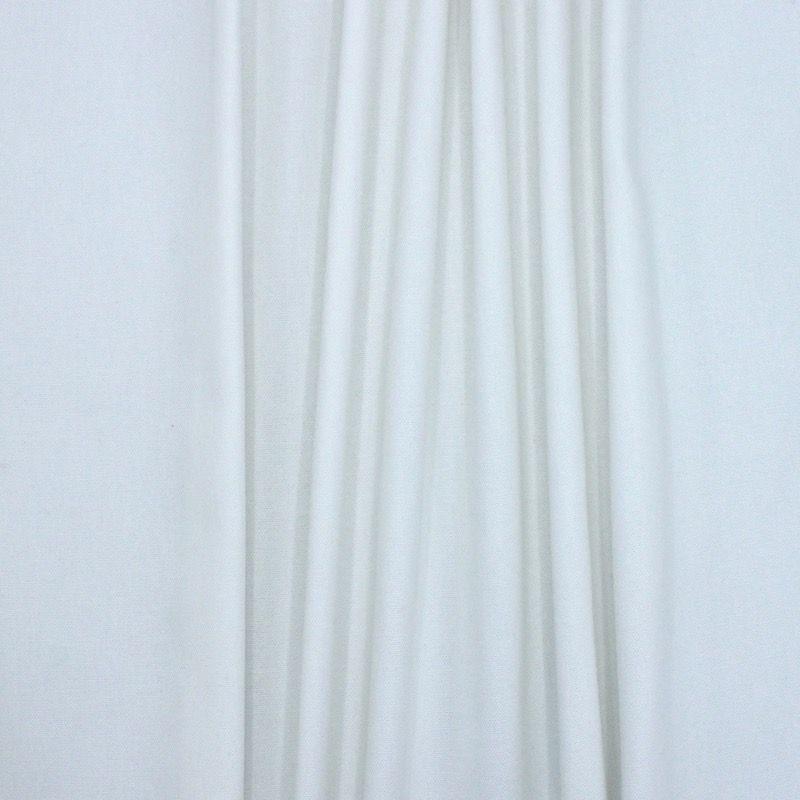 Tissu en coton uni blanc