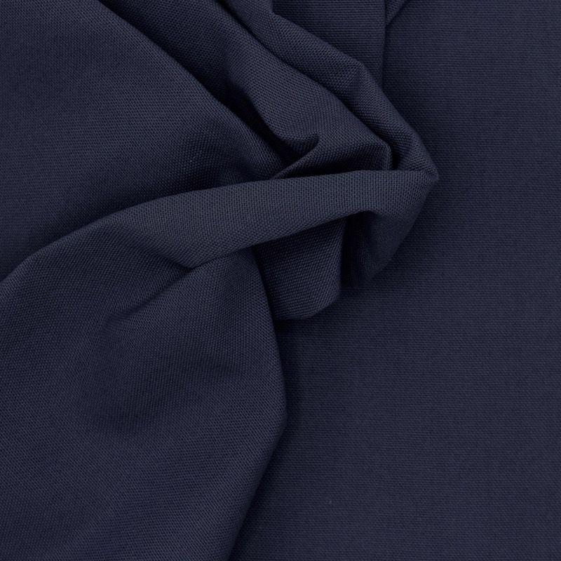 Tissu en coton uni bleu marine
