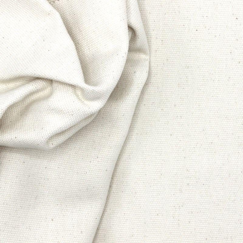 Tissu en coton uni naturel