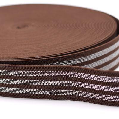Élastique Rayure Lurex Chocolat