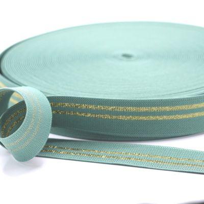 Elastique Lurex Or Vieux Vert